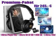 Premium-Paket  1Hires-Player Fiio+ 1Micro SD 32GB+1 HSR-3D-Raumklangkopfhörer+ 3Hires- Musiktitel
